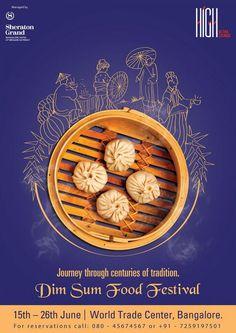 Dim Sum Food Festival poster design on Behance food poster Food Design, Food Graphic Design, Food Poster Design, Event Poster Design, Creative Poster Design, Ads Creative, Poster Design Inspiration, Creative Posters, Web Design