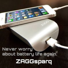 Never worry about battery life again with the ZAGGsparq! #ZAGGdaily #ZAGGsparq #batterylife http://www.zagg.com/   | ZAGG