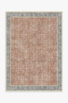 Cambria Abalone Rug – Ruggable Coral Rug, Burgundy Rugs, Black White Rug, Distressed Texture, Machine Washable Rugs, Farmhouse Rugs, Farmhouse Decor, Floral Theme, Palo Verde