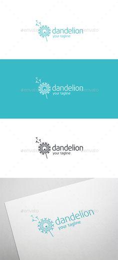 Dandelion Logo Template Vector EPS, AI Illustrator. Download here: https://graphicriver.net/item/dandelion/17549391?ref=ksioks