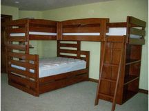 Photo of Bunk Bed B62 with Ziegler Stain + Lacquer Clearcoat