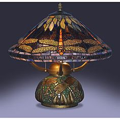 Tiffany-style Dragonfly Table Lamp with Mosaic Base | Overstock.com Shopping - Great Deals on Tiffany Style