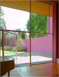 Luis Barragan did this many years ago - but it is the 2014 Color of the Year : radiant orchid.