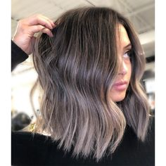 Cool Tone Brown Hair, Ash Brown Hair Color, Brown Blonde Hair, Hair Color And Cut, Hair Color For Tan Skin Tone, Ash Brown Ombre, Ombre Hair Long Bob, Balyage Short Hair, Brunette Hair Color With Highlights