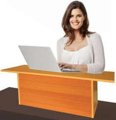 Bamboo Laptop Stand with Internal Cooling Fan OfficeLibrary