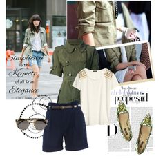 """Militar jacket on the streets of Paris"" by sarapires on Polyvore"