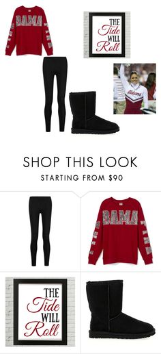 """""""Alabama Outfit"""" by arden-fincher on Polyvore featuring Donna Karan, UGG Australia, women's clothing, women's fashion, women, female, woman, misses and juniors"""