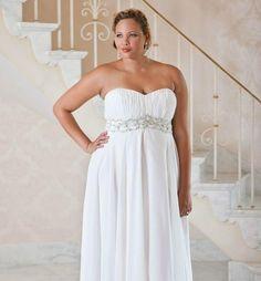 vestido de noiva para gordinhas decote drapeado