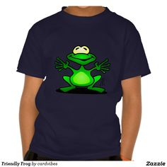 Friendly Frog T-shirt. #Zazzle #Cardvibes #Tekenaartje #SOLD