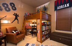 Loft bed that features an entire study room underneath! - Decoist
