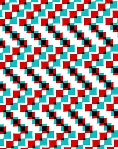 Blocks 1 - Sarah Bagshaw red aqua teal turquoise