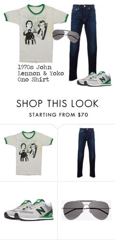 """""""SHOP - WyCo Vintage"""" by wycovintage ❤ liked on Polyvore featuring Edwin, New Balance, Yves Saint Laurent, vintage, men's fashion and menswear"""