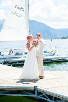 Dillon Reservoir Wedding Photos with Sailbot | René Tate Photography