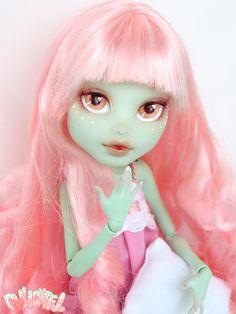 Cherry! Custom Monster High Kawaii Frankie Stein by Dollightful WEBSITE: http://kmurrayartist.wixsite.com/dollightful