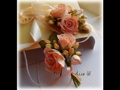 МК Бутоньерка для жениха и невесты.Как сделать ягодки из зефирного фоами...