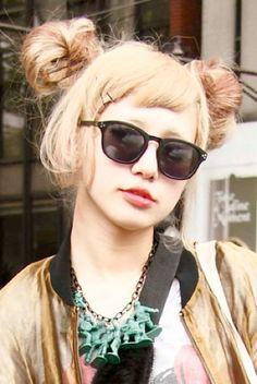 Sunglasses and hair buns
