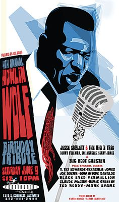 June 9, my fourth annual birthday tribute to the great, great Howlin Wolf.
