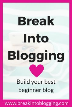 Click to break into blogging! Beginner bloggers will LOVE this course!!! How to start a blog from A-Z. Tips, tricks, and ideas for blogging, growing your email list, social media, making money and more.