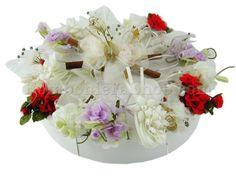 Torta floreale di bomboniere con sconto fine serie