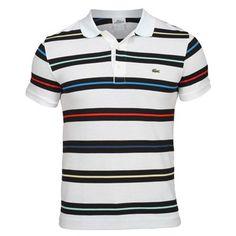 Lacoste High Fashion Men, Mens Fashion, Lacoste, Polo T Shirt Design, Mens Polo T Shirts, Golf Wear, Striped Polo Shirt, Surfing, Shirt Designs