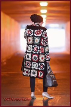 C: Granny Square Long Cardigan Video Tute