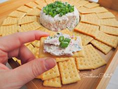 Corned Beef Cream Cheese Spread. I think this needs a little sauerkraut along with the green onion topping.