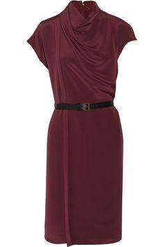Derek Lam|Belted wrap-effect silk dress|NET-A-PORTER.COM