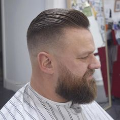 Skinned and trimmed. Little beard tidy up also Few spaces left this week, book in via the link in my bio, thanks Best Hairstyles For Older Men, Haircuts For Balding Men, Cool Haircuts, High Skin Fade, Beard Haircut, Fade Haircut, Great Beards, Awesome Beards, Hair And Beard Styles