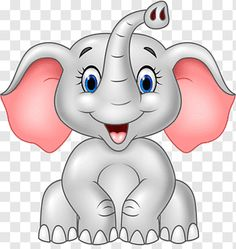 Cute Elephant Cartoon, Cute Baby Elephant, Baby Cartoon, Cartoon Elephant Drawing, Cartoon Jungle Animals, Tribal Elephant, Cartoon Monkey, Elephant Head, Safari Png