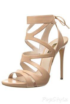 Casadei Open Toe Cross Straps Italian Leather Dress Sandal