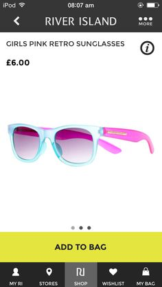 # just got these retro sunglasses from river island.  # Bright and practical for the summer
