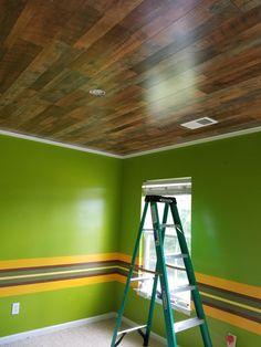 Pergo flooring on the ceiling