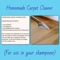 Country Chic in North Idaho: Homemade Carpet Cleaner - Carpet Cleaner - Ideas of. Country Chic in North Idaho: Homemade Carpet Cleaner – Carpet Cleaner – Ideas of Carpet Cleaner Deep Cleaning Tips, House Cleaning Tips, Diy Cleaning Products, Cleaning Solutions, Spring Cleaning, Cleaning Hacks, Diy Hacks, Cleaning Supplies, Zone Cleaning