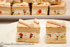 Krispie Treats, Rice Krispies, Romanian Food, Romanian Recipes, Russian Desserts, Canapes, Vanilla Cake, Good Food, Appetizers