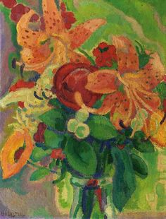 Still life with Tiger Lilies by Leo Gestel