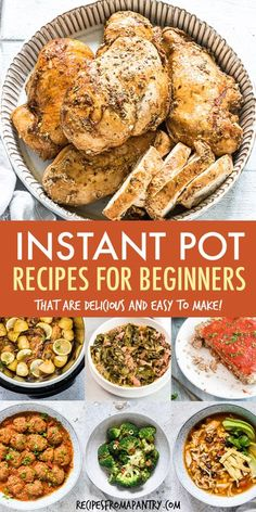 This collection of the Best Instant Pot Recipes For Beginners is exactly what you need to start cooking in the Instant Pot! Chicken, soups, beef, pasta, healthy sides, & desserts, these are the best Pressure Cooker recipes to get you started on your Instant Pot journey. Fast, affordable, and so simple, these are the easy Instant Pot recipes you'll want to make again and again. Click through to get these awesome Instant Pot Beginner Recipes!! #instantpot #instantpotrecipes #recipes Best Instant Pot Recipe, Instant Pot Dinner Recipes, Supper Recipes, Lunch Recipes, Healthy Recipes, Sweets Recipes, Drink Recipes, Desserts, Best Pressure Cooker Recipes