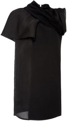 Rick Owens Croissant Silk and Cotton Tunic