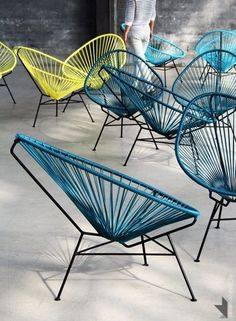 As an homage to the pacific resort of the the label OK Design brought the Acapulco Chair to the market. Characteristic for the Acapulco Chair by OK Desig Garden Furniture, Modern Furniture, Home Furniture, Furniture Design, Outdoor Furniture, Lounge Furniture, Ok Design, Deco Design, House Design