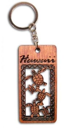 Hawaiian Key Chain Laser Cut Wood Keychain Hawaii Honus by Buns of Maui. $6.99. Hawaiian Novelty Souvenirs make a great gift for that special someone!. Hawaiian Laser Cut Wood Key Chain. Measures approximately 1.25 in. wide by 2.75 in. long.