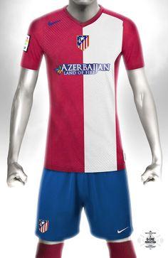 Conceptual kit design - Atletico Madrid Home