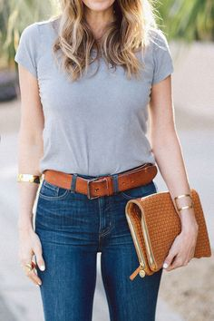 Jeans and a classic @Gap tee, #Styldby via A House in the Hills