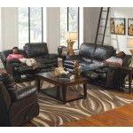 Catnapper - Perez 2 Piece Power Reclining Sofa Set in Steel - 64141-S+L-STEEL