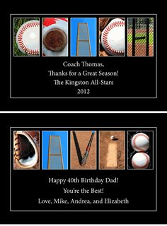 PERSONALIZED Wood PlaqueBaseball Letter ArtUp to 4 Lines of Text