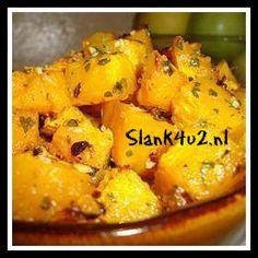 Gebakken pompoen met knoflook - Slank4u2