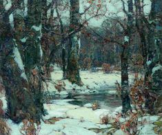 """""""Brookside Quiet,"""" John Fabian Carlson, oil on canvas, 24 x 30"""", private collection."""