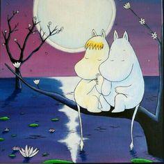 Moomins by Moonlight Cute Wallpaper Backgrounds, Cute Wallpapers, Cartoon Images, Cute Cartoon, Illustrations, Illustration Art, Moomin Wallpaper, Les Moomins, Dibujos Pin Up