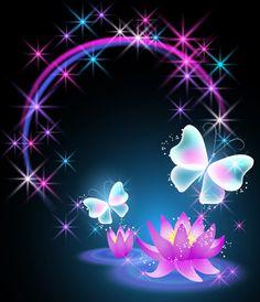 Butterfly and Neon Rainbow - Butterflies Photo - Fanpop Purple Butterfly, Butterfly Flowers, Beautiful Butterflies, Beautiful Flowers, Lotus Flower, Flower Phone Wallpaper, Butterfly Wallpaper, Iphone Wallpaper, Cute Wallpapers