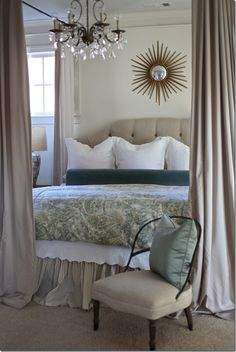 canopy bed by adding hardware to the ceiling