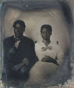 SLAVE COUPLE HENRY & PREGNANT FANNIE from SOUTH CAROLINA CASED 1/6 PLATE TINTYPE https://www.pinterest.com/pin/351351208418068243/