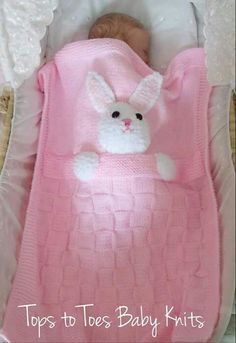 rabbit easy blanket (annotated) – Activity of the Month… - Babykleidung Knitting For Kids, Baby Knitting Patterns, Baby Patterns, Knitting Projects, Crochet Patterns, Quilt Baby, Knitted Baby Blankets, Baby Blanket Crochet, Bunny Blanket